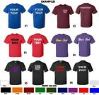 CUSTOM T Shirt Personalized ANY COLOR S 5XL Your Text Name Print Customized Tee