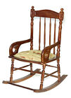 Vintage Mahogany Windsor Spindle Back Rocking Chair - B