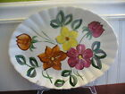 Blue Ridge Southern Pottery Gypsy Floral Motif Large Oval Serving Platter