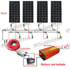 600Watt complete kit 4160W solar panel W 1500W off grid inverter for 12V Home