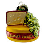 Christopher Radko SUITABLE SIDES Blown Glass Ornament Cheddar Swiss Snack