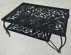Abstract Metal Coffee Table w/Unique Openwork Top & Cabriole Wrought Iron Legs