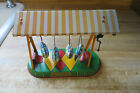 Altes Nurnberger tin wind up with key space ship swing carnival ride game toy