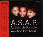 A.S.A.P. - Vacation Hot Lovin' - Japan CD OBI 10Tracks ASAP As Soon As Possible