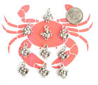 NEW 10 TIBET SILVER CUTE CRABS CHARMS PENDANTS CUTE