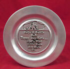 DECORATIVE PEWTER WALL DECOR PLATE; Snips & Snails Poem, Colonial York Pa.