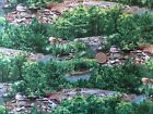 Landscape Medley Quilt Fabric OOP From 2012 Trees Stream Rocks 100% Cotton Craft
