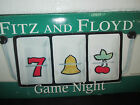 Fitz And Floyd Game Night 3 Section Divided Dish Server Two Arms Slot Machine