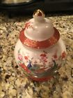 Antique Asian Hand Painted Ginger Jar Peacock Exquisite Condition