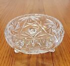 Vintage American Brilliant Period Pinwheel Pattern Cut Glass Crystal Footed Bowl