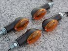 Set of Four Black/Amber MOTORCYCLE TURN SIGNALS