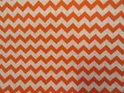 CHEVRON FOUST TEXTILES 1/2 INCH ORANGE 1 YD