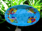 Vtg Large Hand Made Oval Serving Dish w Fish Made in Italy 19.5in