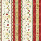 100 % cotton fabric quilting Christmas Whimsy 25205 mul1l Red Rooster 5/8yd