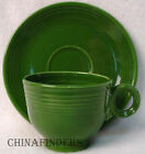 HOMER LAUGHLIN Fiesta Vintage FOREST GREEN pattern Cup & Saucer