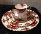 Royal Albert Old Country Rose Bone China Dinner Set Plates Cup Saucer 1962