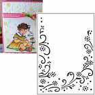 Embossing Folder FLORAL BORDER Darice 1215 69 Cuttlebug Compatible NEW A2