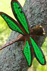 Metal  Glass Mosaic Dragonfly wall art handmade Garden decor Bali Green