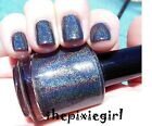 HOLOGRAPHIC Linear Rainbow Spectraflair Black Nail Polish Lacquer 15mL Full