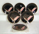 Fitz & Floyd Luxury Dinnerware BIRD OF PARADISE (6) Accent Plates 7-1/2