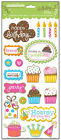Creative Imaginations BIRTHDAY BLISS Glitter Chipboard Scrapbooking Cardmaking