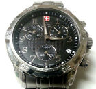 Mens S S Wenger Swiss Army Military Chronograph Watch 79136 Signed Crown Back