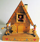 Vintage Reuge Chalet Animated Music Box Wooden Swiss Movement Brahms Lullaby