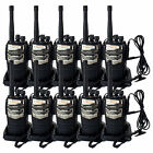 10PCS Portable Retevis RT-6S Walkie Talkie UHF 16CH 6W Scan Monitor 2- Way Radio