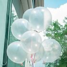 100pcs Party Crystal Clear Latex Balloons Engagement Wedding Anniversary Decro