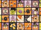 BOPPITY BOO~HALLOWEEN~RED ROOSTER FABRIC PANEL~SQUARES~OWL~CANDY CORN~GHOST~CAT