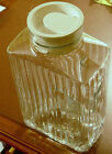 Vintage Anchor Hocking Ribbed Refrigerator Pitcher White Top
