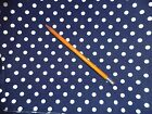 Cotton Fabric Navy Blue with Polka Dots 46