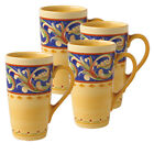 Pfaltzgraff Villa Della Luna Latte Mugs, Set of 4