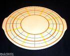 "Villeroy & Boch Dresden Schotten 13"" Round Yellow Cake Plate Crimp Edge GERMANY"