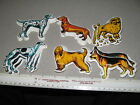 DOG POODLE (3 examples) puffy sticker refrigerator magnet 1974