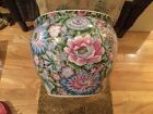 BEAUTIFUL ASIAN HAND PAINTED PORCELAIN JARDINIERE PLANTER/FISH BOWL