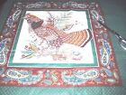 Vintage Cranston Fabric Pillow Panel - Pheasant & Quail  - 2 Pillows