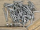 """ brad NAILS (200) quantity round small domed head square vintage antique style"