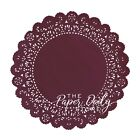 BURGUNDY WINE Paper Lace Doilies  4 5 6 8 10 12 14 16 Burgundy Charger