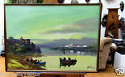 Original Vintage Oil Painting Handmade Custom Wood Frame Excellent Condition