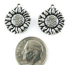 TierraCast Pewter Charms ANTIQUE SILVER SUNFLOWER 2