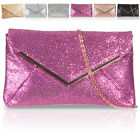 Synthetic Glitter Ladies Bridesmaid Clutch Flat Envelope Prom Evening Party Bags