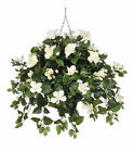 House of Silk Flowers Inc. Artificial Hibiscus Hanging Plant in Square Basket