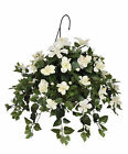House of Silk Flowers Inc. Artificial Hibiscus Hanging Plant in Basket