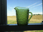 VINTAGE Creamer Cream Milk Pitcher Soreno Avocado Green Glass  Anchor Hocking