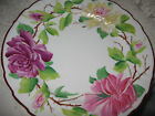 German Hand Painted Decorative Plate Large Roses