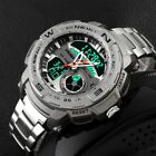 Shock Digital Analog Steel LED Date Quartz Army Military Men's Sport Wrist Watch