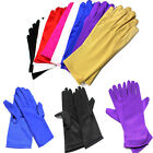 Solid Color Short Women Stain Glove Bridal Wedding Prom Driving Wrist Gloves