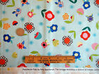 Patchwork Pals Fabric Flowers & Mushrooms Red Rooster Fat Quarter 18