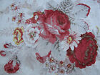 Waverly Vintage Norfolk Rose Fabric 1.5 Yards Decorator Home Drapery Pink Red